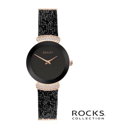 Sekonda Ladies Seksy Rocks Rose Gold Plated Bracelet Watch 2720