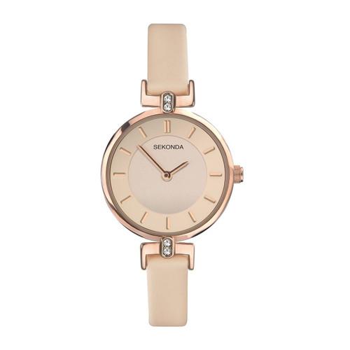 Sekonda Ladies Rose Gold Plated Dress Watch 2627