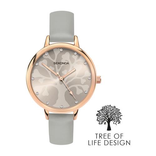 Sekonda Ladies Tree of Life Design Grey Watch 2649