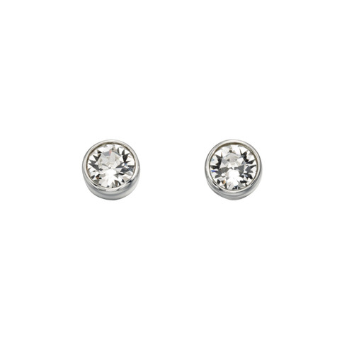Sterling Silver April Birthstone Earrings