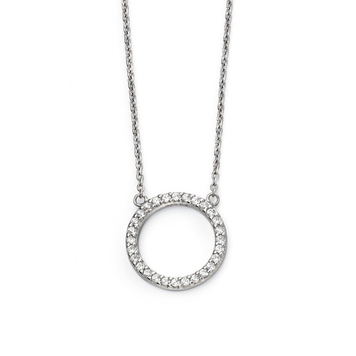 Sterling Silver Circle of Life Necklace Small