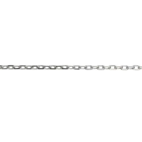Sterling Silver 2.2mm Diamond Cut Trace Chain Necklace