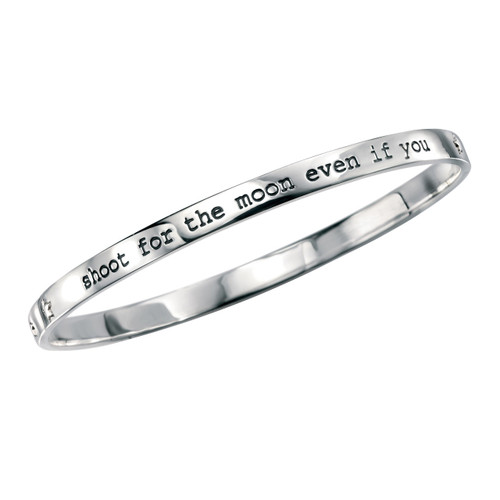 Shoot for the Moon Silver Bangle