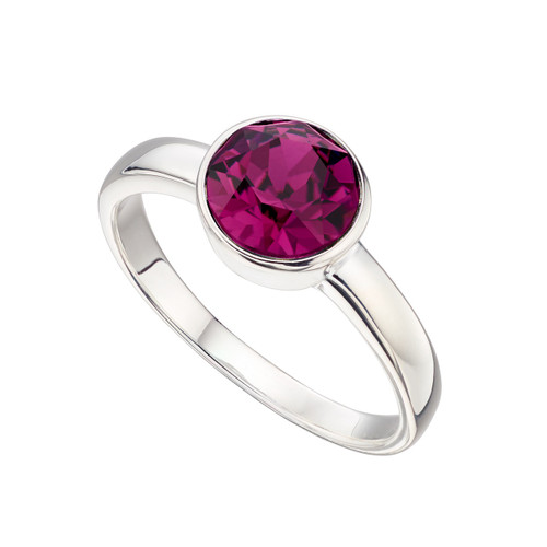 Sterling Silver February Birthstone Ring