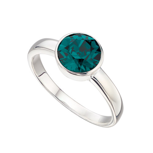 Sterling Silver May Birthstone Ring