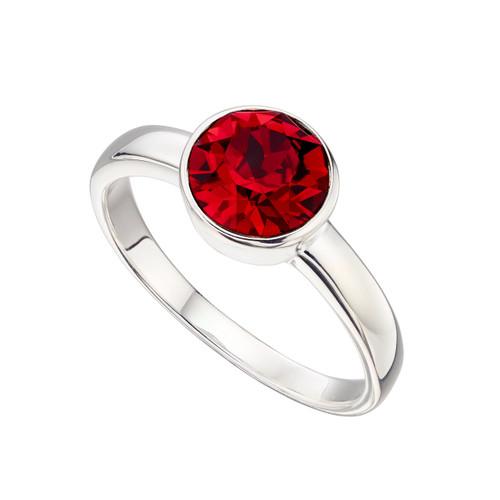 Sterling Silver July Birthstone Ring