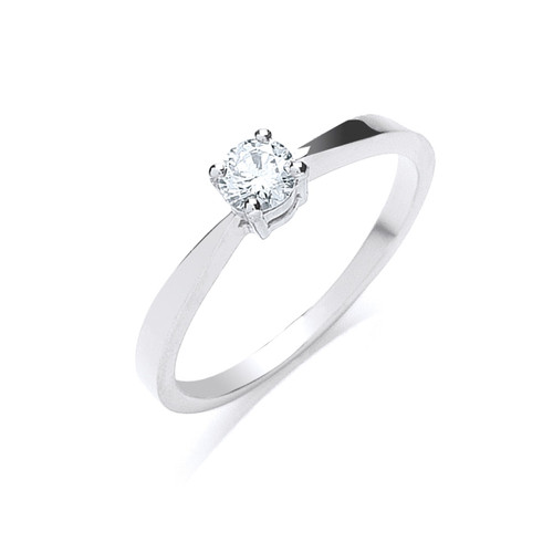 Platinum 0.25ct Brilliant Cut Diamond Solitaire Ring