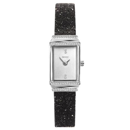 Sekonda Ladies Seksy Rocks Black Bracelet Watch 2860