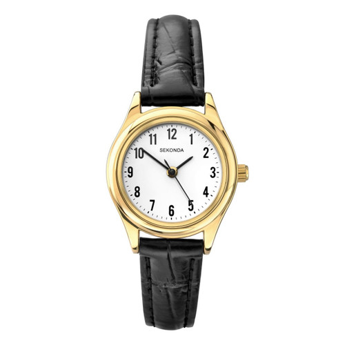Sekonda Ladies Classic Leather Strap Watch 4493