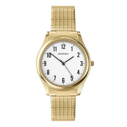 Sekonda Mens Classic Gold Plated Expander Watch 3752