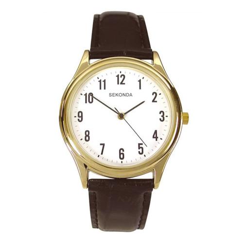 Sekonda Mens Classic Gold Plated Watch 3623