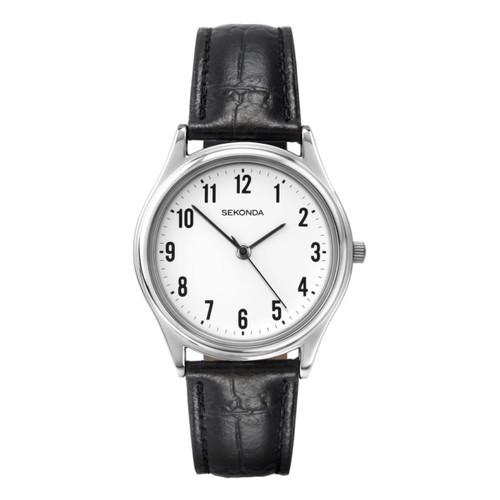 Sekonda Mens Classic Black Strap Watch 3621