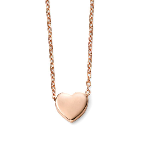 9ct Rose Gold Heart Pendant on Chain
