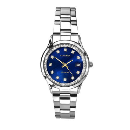 Sekonda Ladies Blue Face Stainless Steel Watch 2147
