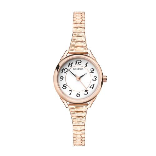Sekonda Ladies Rose Expandable Stainless Steel Watch 2639