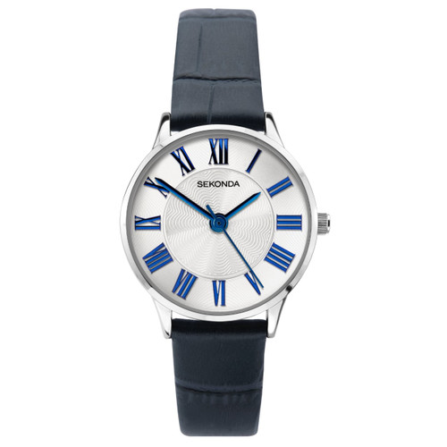 Sekonda Ladies Blue Leather Strap Watch 2965