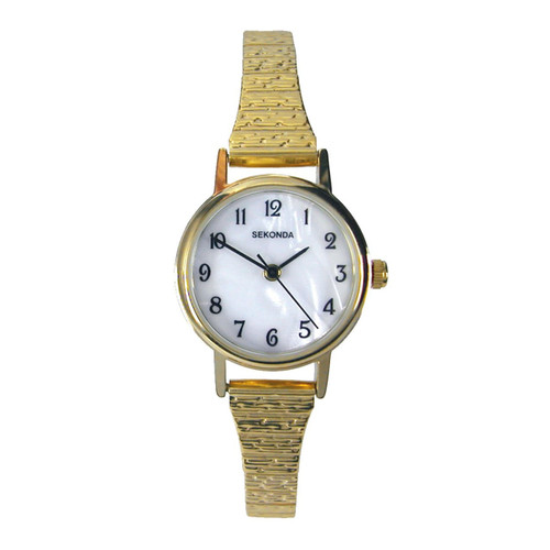 Sekonda Ladies Gold Plated Expandable Stainless Steel Watch 4677