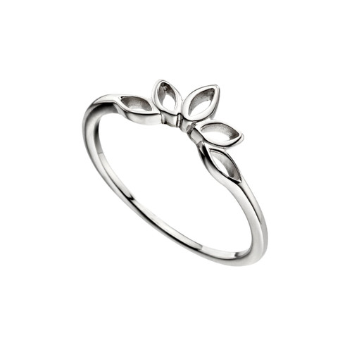 Sterling Silver Lotus Flower Design Ring
