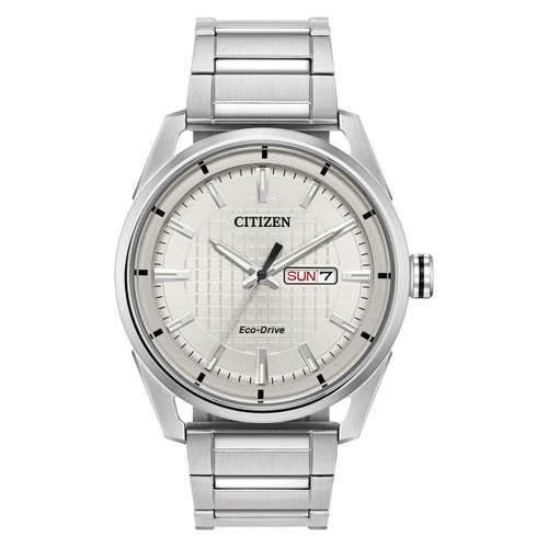 Citizen Gents Eco-Drive Stainless Steel Watch AW0080-57A