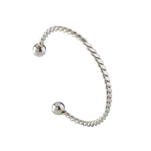 Sterling Silver Twisted Torque Bangle