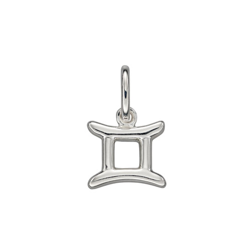Sterling Silver Gemini Zodiac Pendant