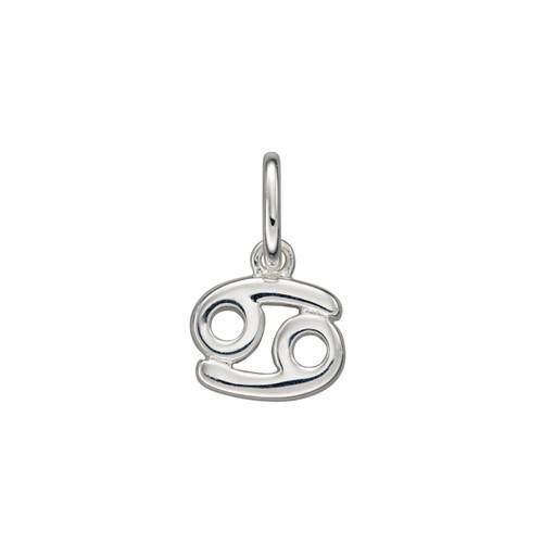 Sterling Silver Cancer Zodiac Pendant