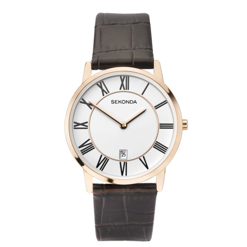 Sekonda Gents Classic Leather Strap Watch 1780