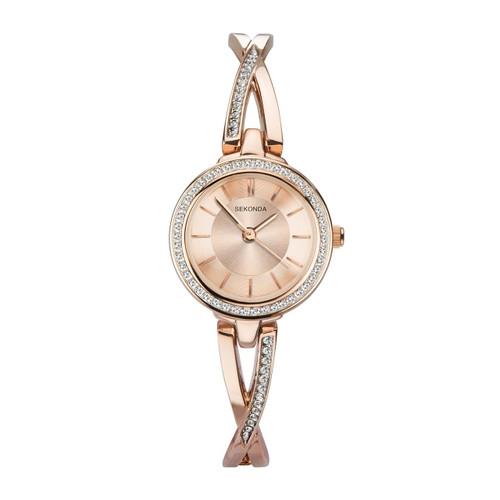 Sekonda Ladies Rose Gold Plated Dress Watch 2771