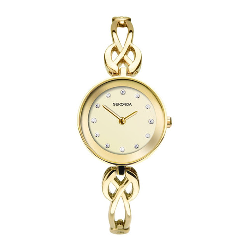 Sekonda Ladies Gold Plated Dress Watch 2644