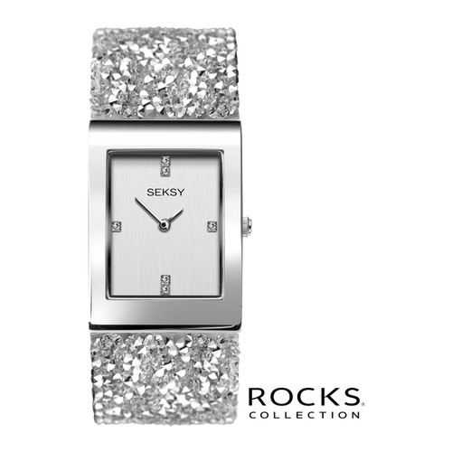 Sekonda Ladies Seksy Rocks Silver Stone Set Bracelet Watch 2652