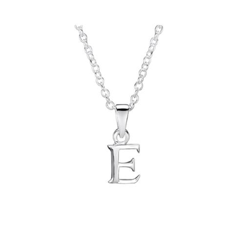 Jo for Girls Sterling Silver Initial E Pendant