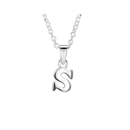 Jo for Girls Sterling Silver Initial S Pendant