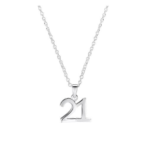 Jo for Girls Sterling Silver 21 Pendant