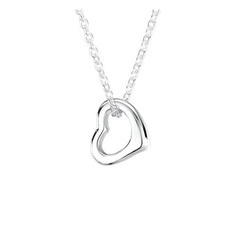 Jo for Girls Sterling Silver Open Heart Pendant