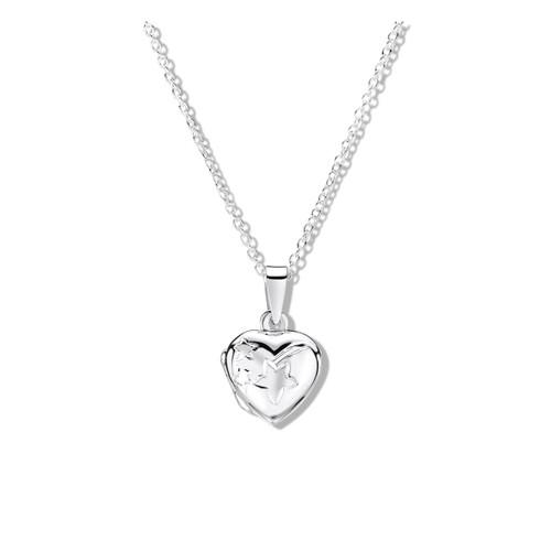 Jo for Girls Sterling Silver Shooting Star Heart Locket