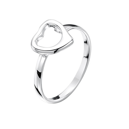 Jo for Girls Sterling Silver Open Heart Ring