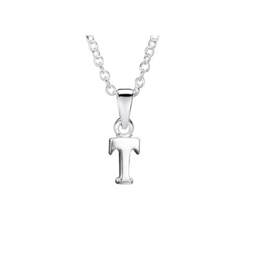 Jo for Girls Sterling Silver Initial T Pendant