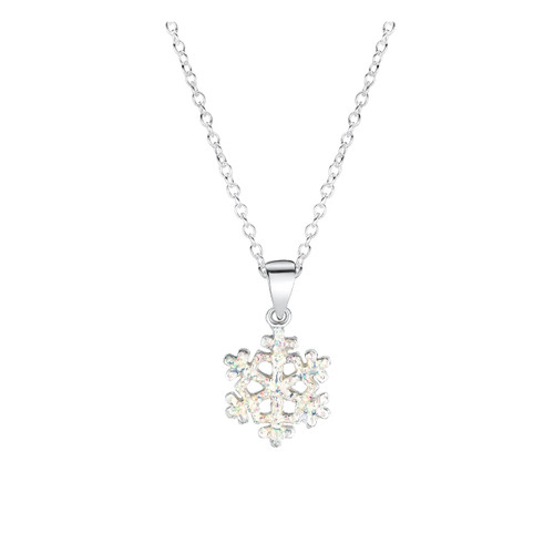 Jo for Girls Sterling Silver White Snowflake Pendant