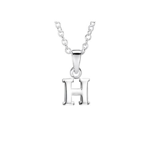 Jo for Girls Sterling Silver Initial H Pendant