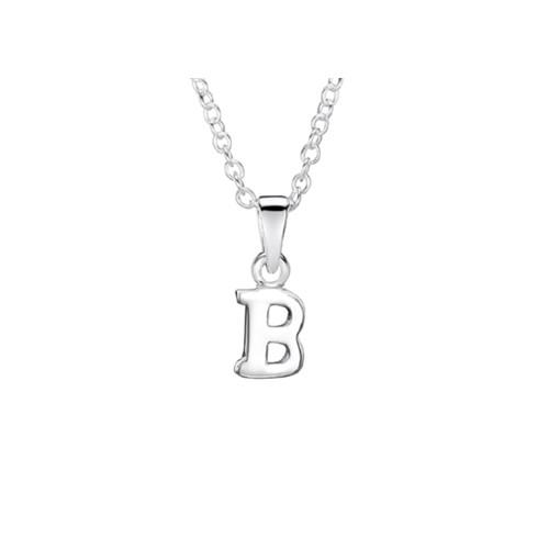 Jo for Girls Sterling Silver Initial B Pendant