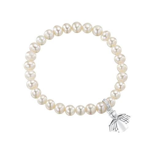 Jo for Girls Freshwater Pearl Guardian Angel Bracelet