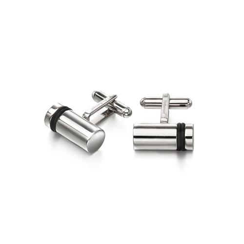 Fred Bennett Stainless Steel Barrel Shape Cufflinks