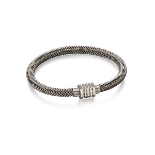 Fred Bennett Stainless Steel Woven Bracelet