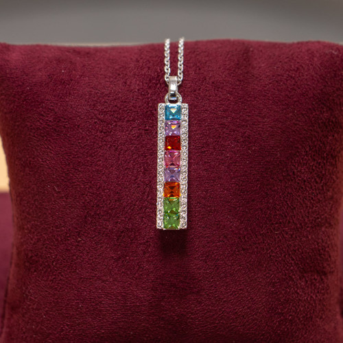 Sterling Silver Swarovski Crystal Rainbow Pendant