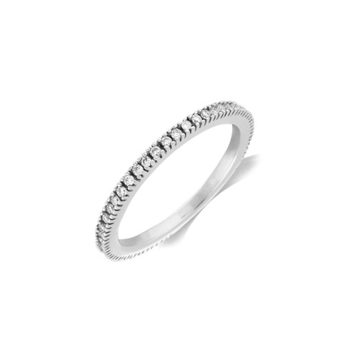 9ct White Gold 0.25ct Brilliant Cut Diamond Claw Set 70% Eternity Ring