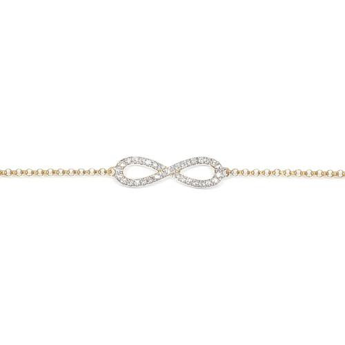 9ct Yellow Gold Diamond Infinity Bracelet