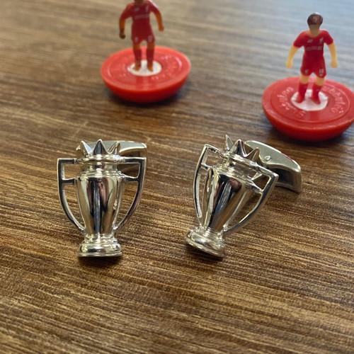 Sterling Silver Premier League Trophy Cuff Links