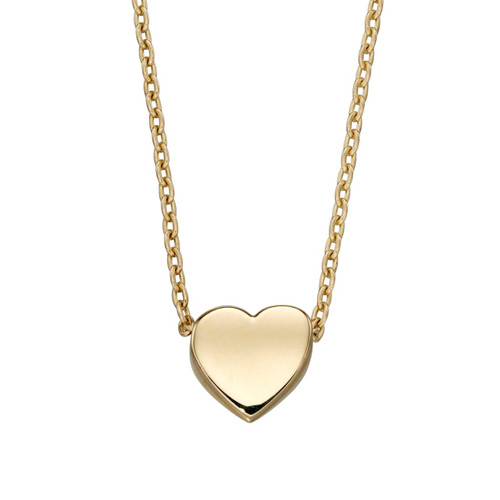9ct Yellow Gold Heart on Chain