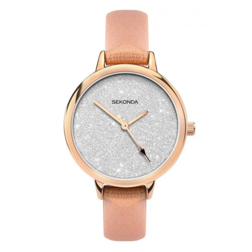 Sekonda Ladies Glitter Dial Leather Strap 40025