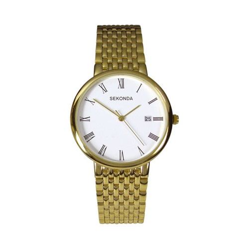 Sekonda Gents Gold Bracelet Watch 3683